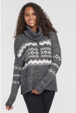 Tribal L/S Jacquard Cowl Neck