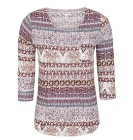 Tribal 3/4 Sleeve Top w Pocket