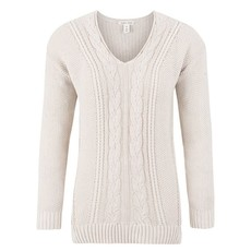 Tribal V-Neck Cable Sweater