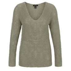 Tribal L/S V Nk Mittered Sweater