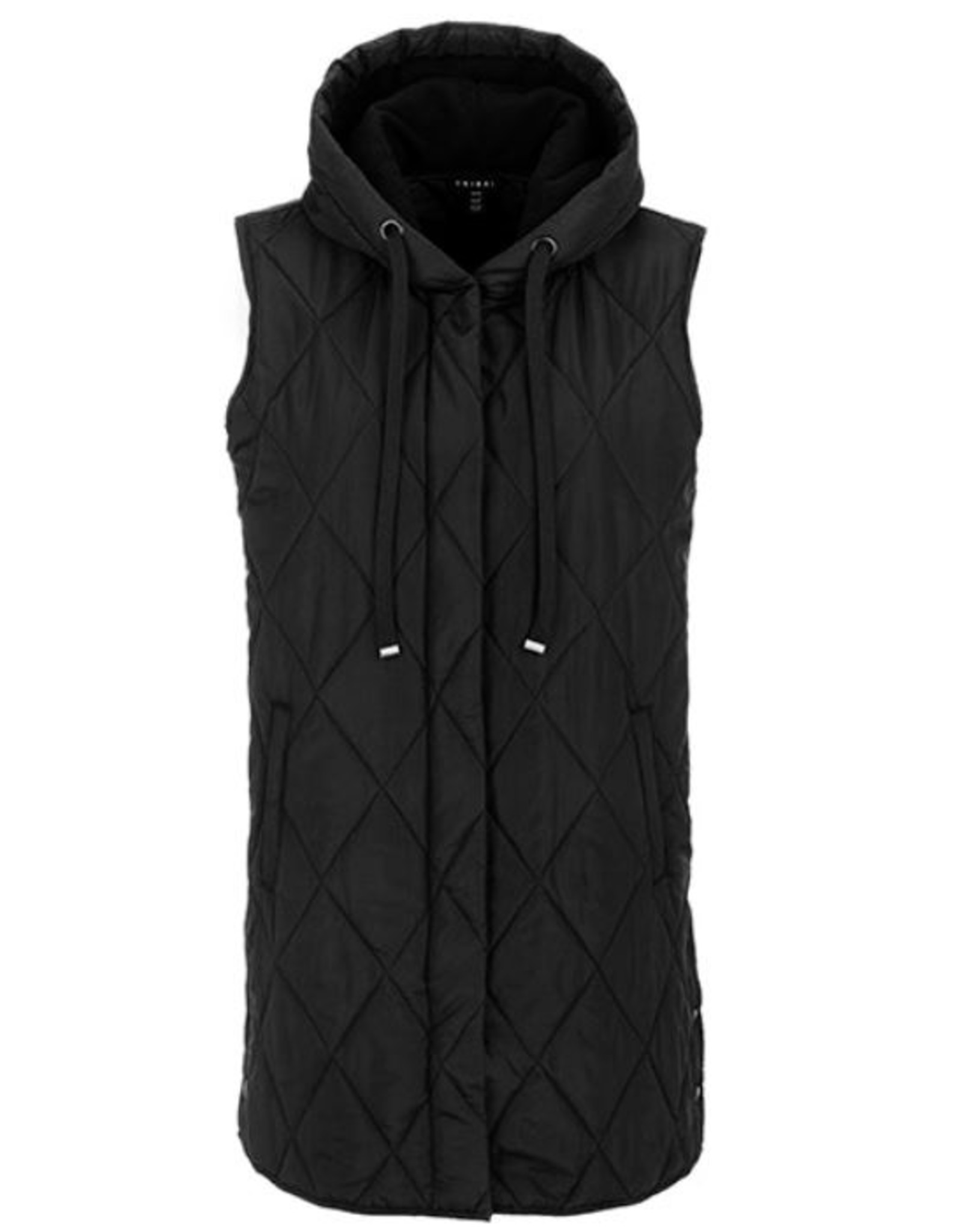 Tribal Hooded Long Puffer Vest