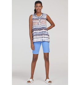 Tribal Women's Sleeveless Blouse w Tuck Pleats