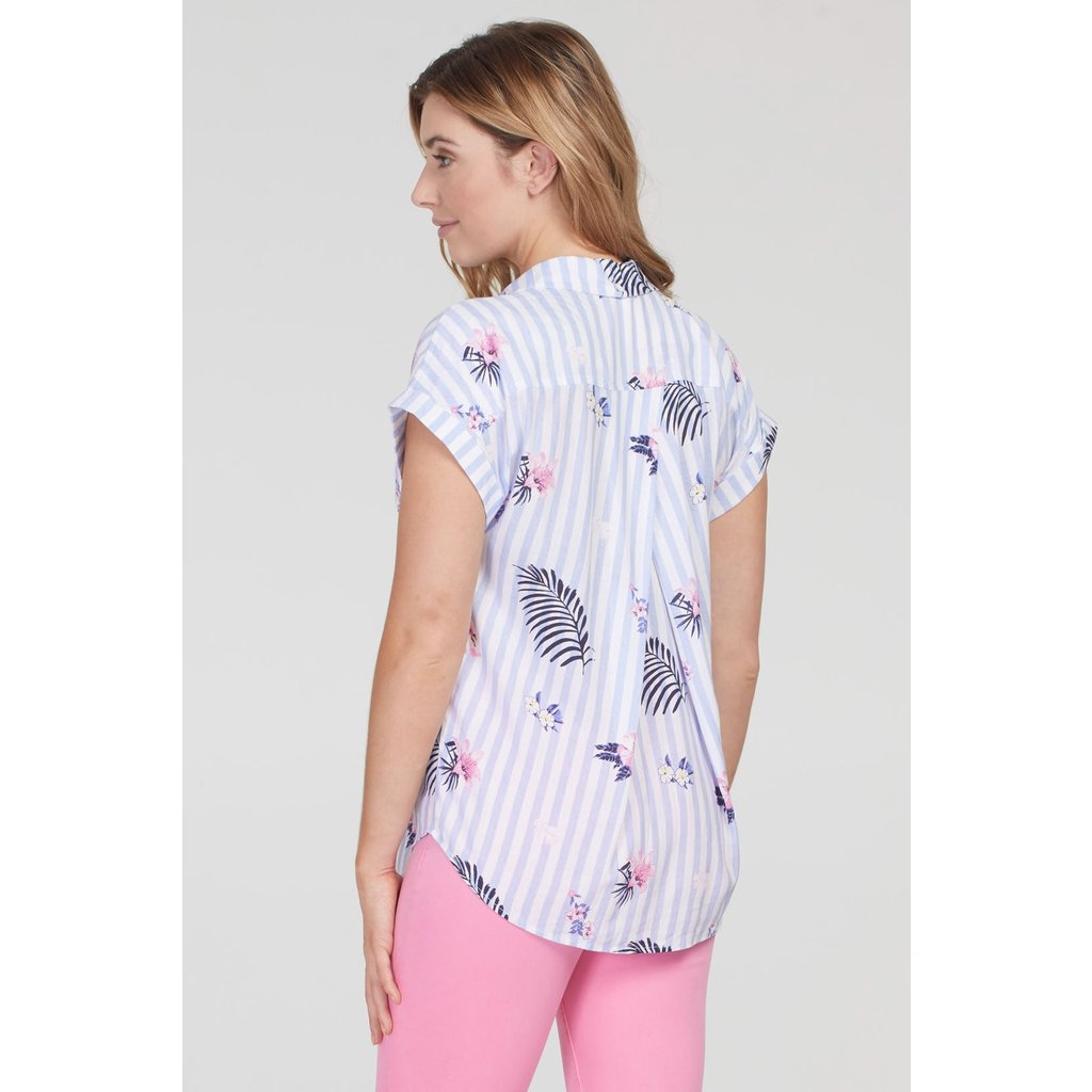 Tribal Women's  S/S Shirt w Back Detail