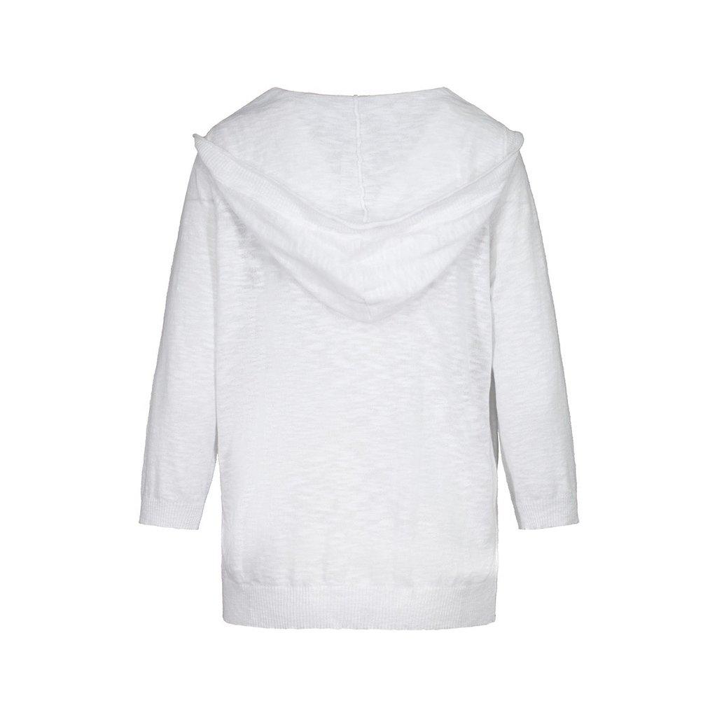 Tribal 3/4 Sleeve Hooded Cardigan