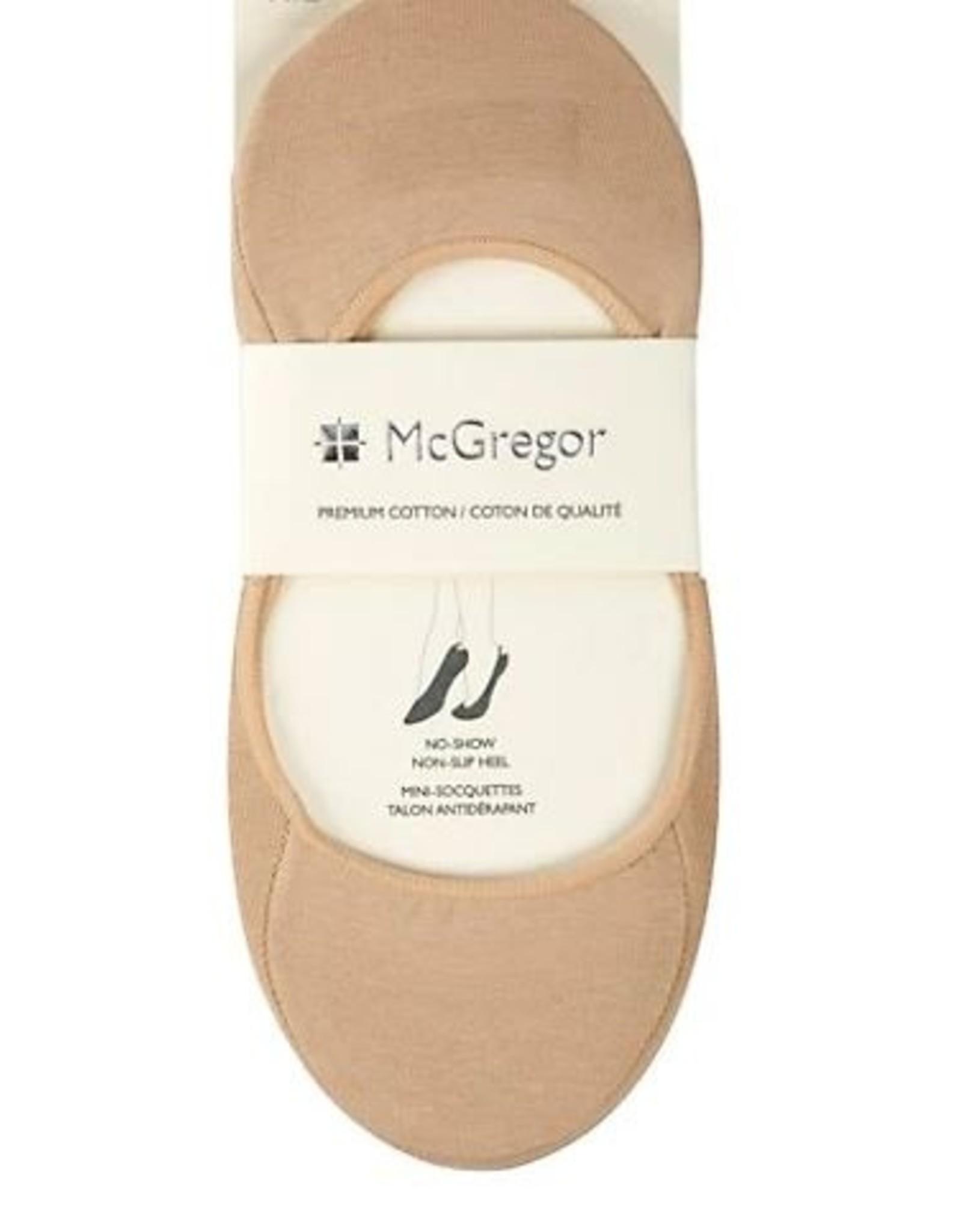 McGregor Socks Women's No Show Non Slip Heel - Nude