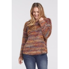 Tribal L/S Drop Shoulder TopFunnel Neck Sweater