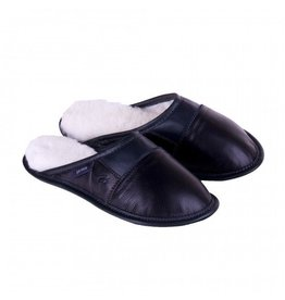 Garneau Women's Ladies Leather Slip On Slippers
