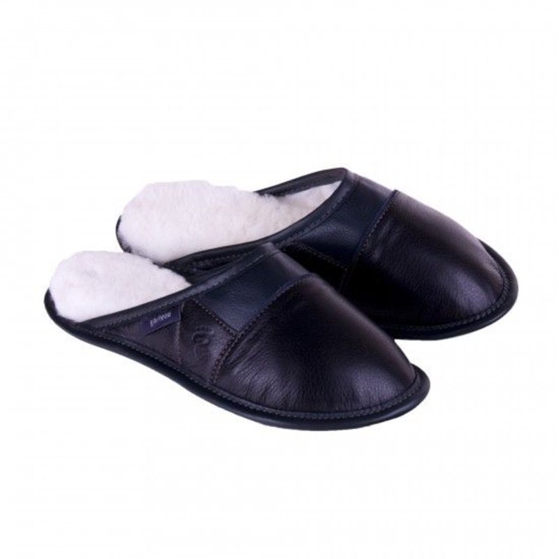 Garneau Women's Ladies Leather Slip On Slippers