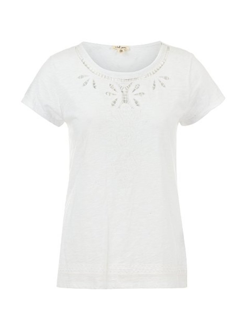 Tribal Cap Sleeve Embroidered Top - SP18