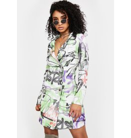 New Girl Order New Girl Order Graffiti Blazer Dress