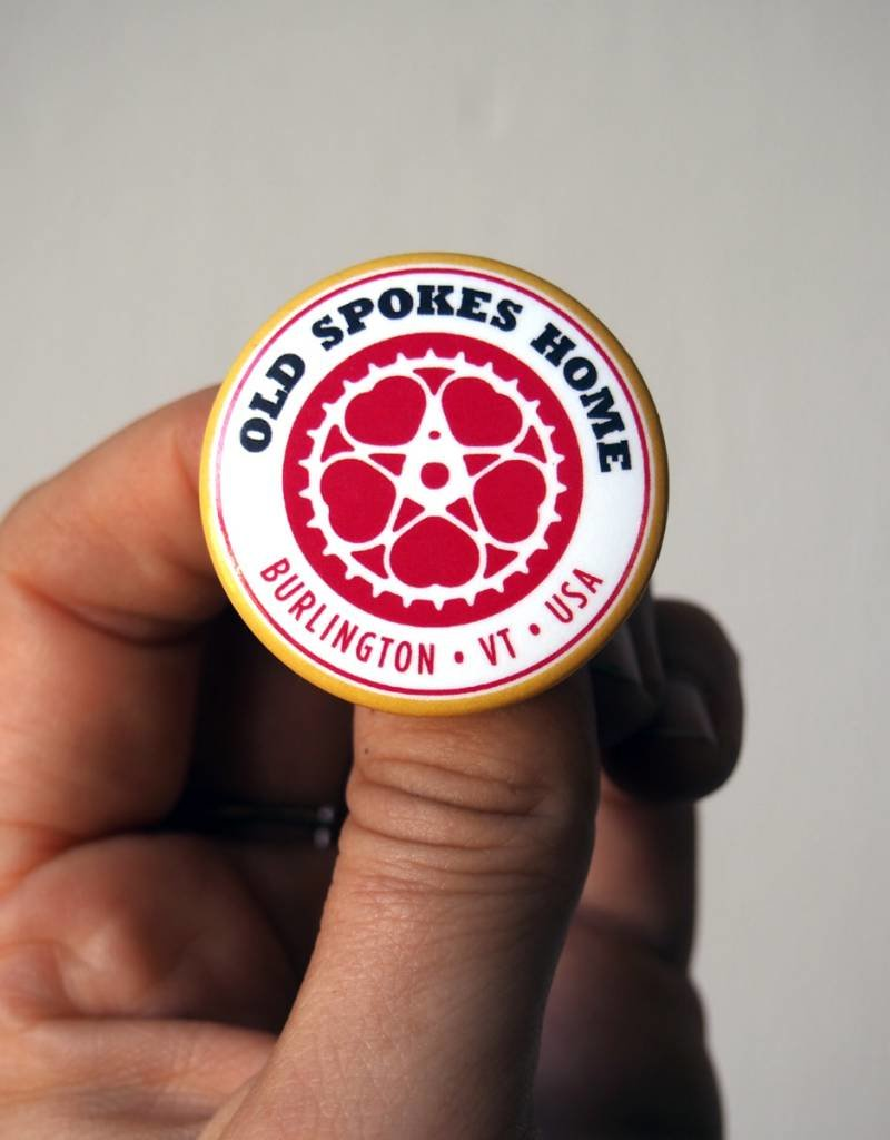 "Old Spokes Home OSH Logo 1.5"" Button"