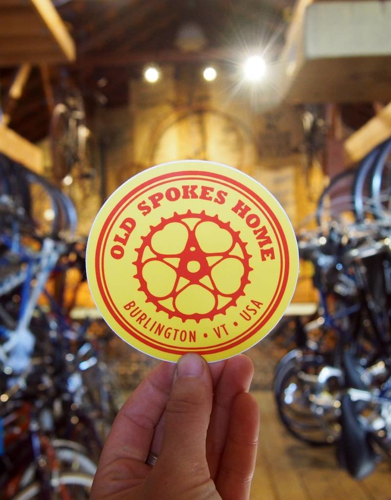 """Old Spokes Home 4"""" Old Spokes Home Sticker"""