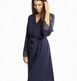 Love & Lustre Love & Lustre Butterfly Robe Deep Blue