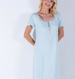 Annette Annette Maglia Short Sleeve Lace Front Opening Dress 1858