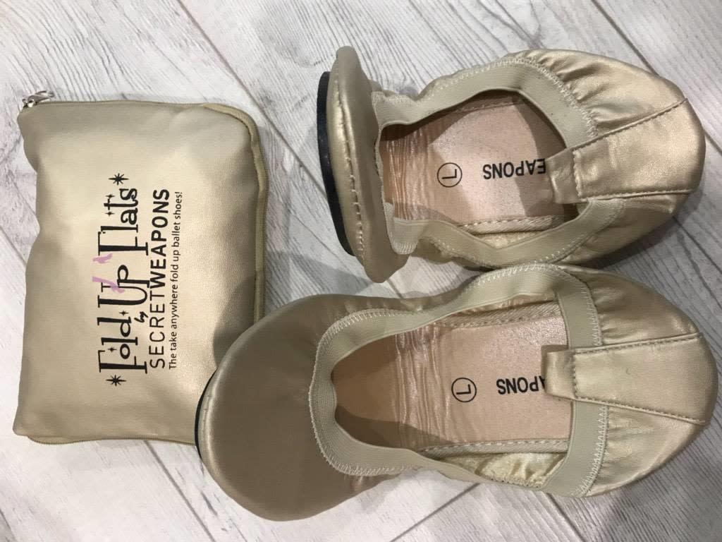 Secret Weapons Secret Weapons Fold Up Flats Sahara Pearl