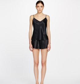 Ginia Ginia Silk V Neck Camisole Black 9615