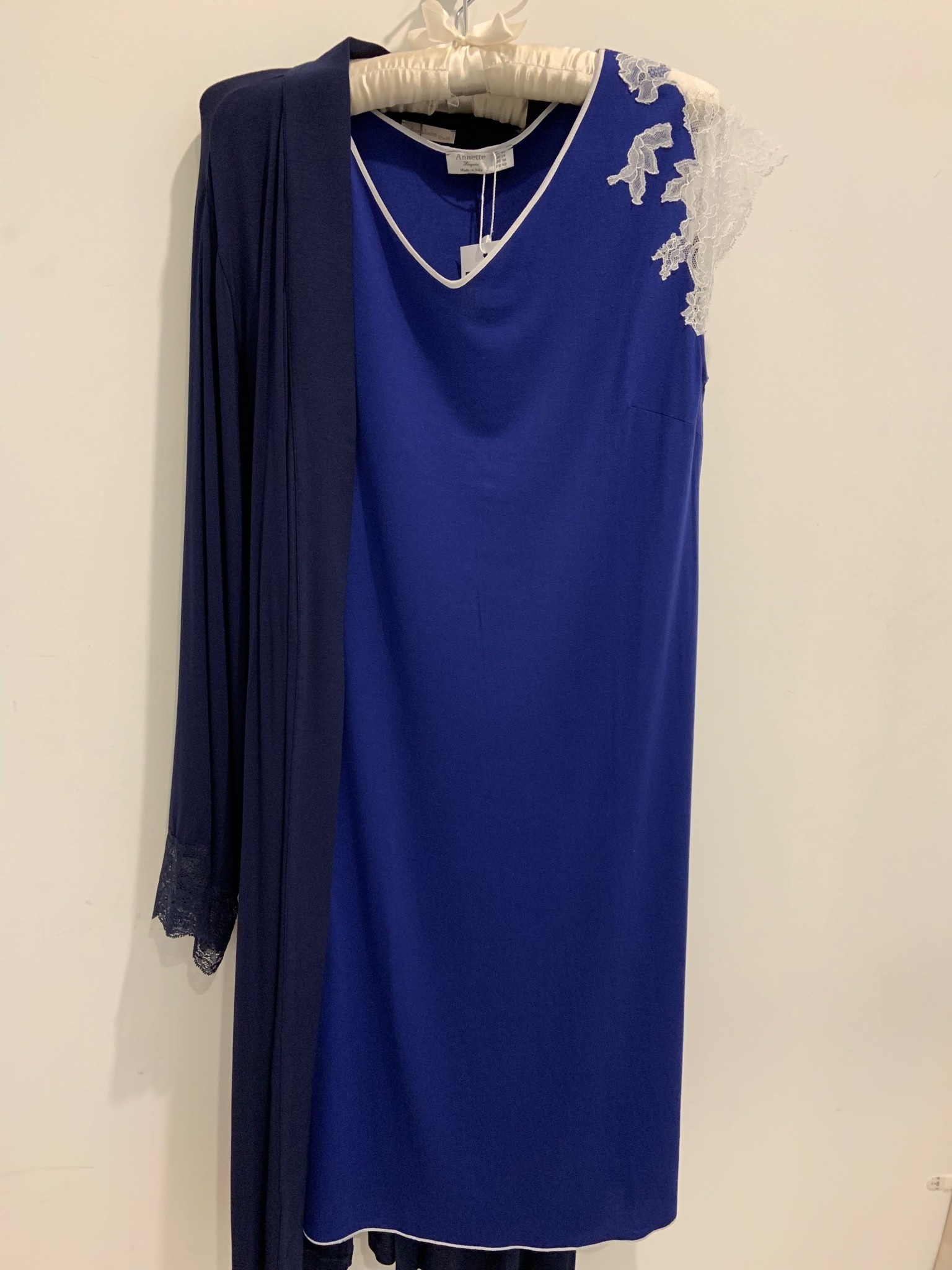 Annette Annette Canotta Maglia Short Sleeve Short Dress Royal/Panna 1419