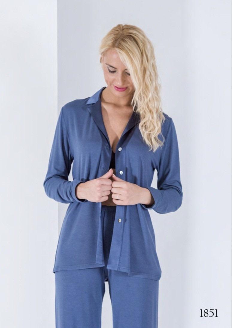 Annette Annette Maglia Long Sleeve PJ Blue 1851