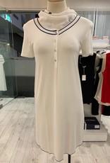 Annette Annette Maglia Short Sleeve Front Opening Dress Panna 1862
