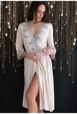 Clara Rossi Clara Rossi Long Robe Dusty Pink Grey 201