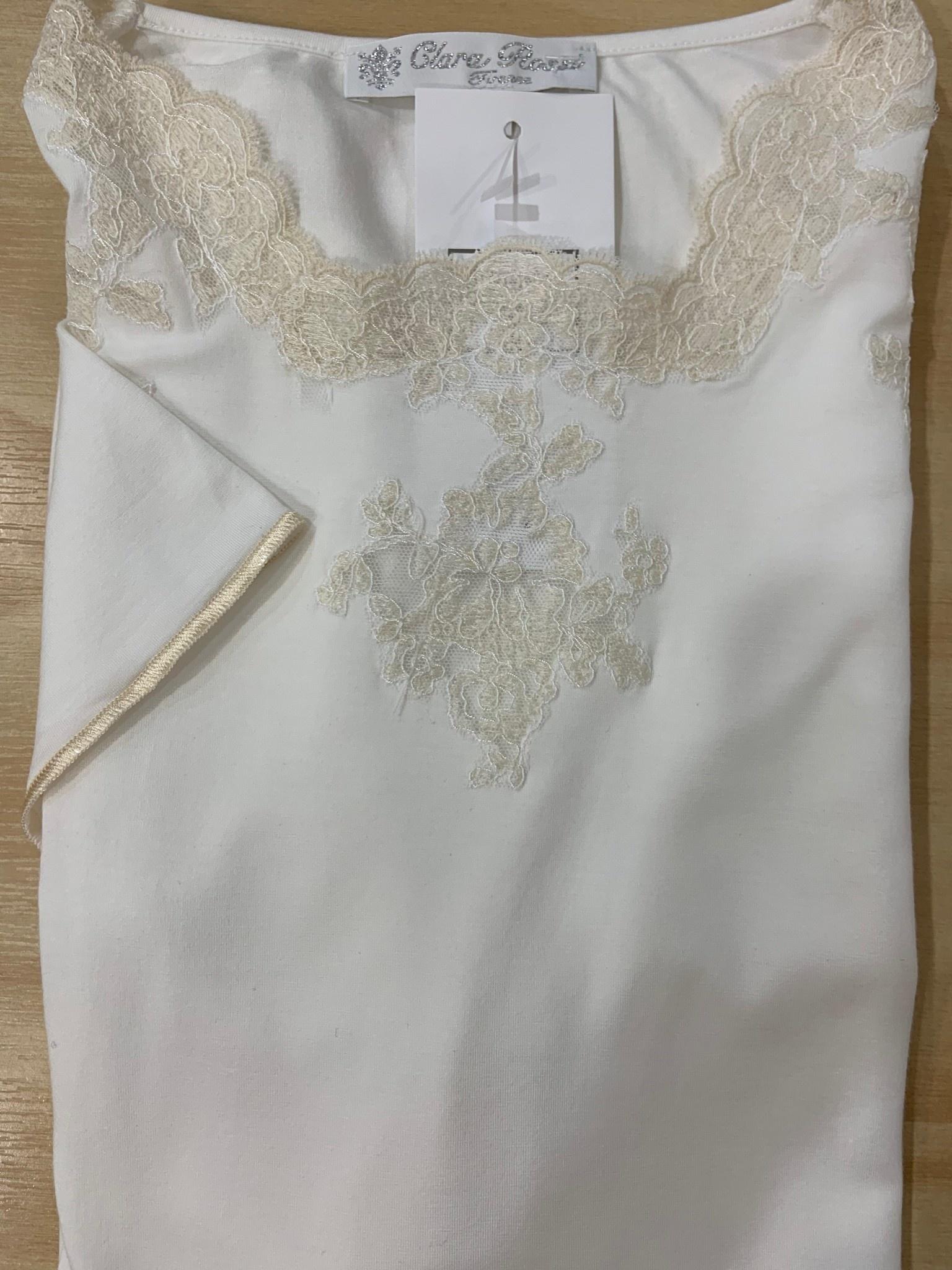 Clara Rossi Clara Rossi Short Dress Short Sleeve Ivory 5619