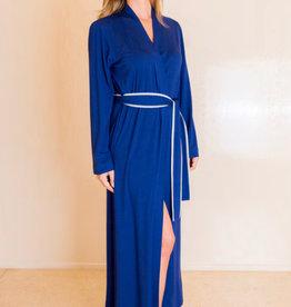 Annette Annette Long Sleeve Long Robe 1414 Royal/Panna