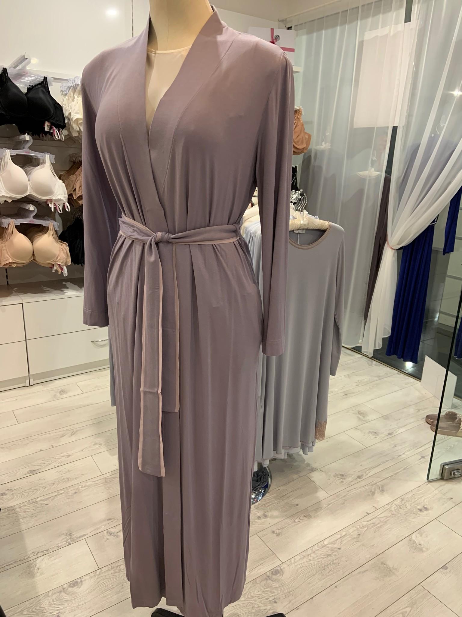 Annette Annette Long Sleeve Long Robe 1414 Malva/Rosa