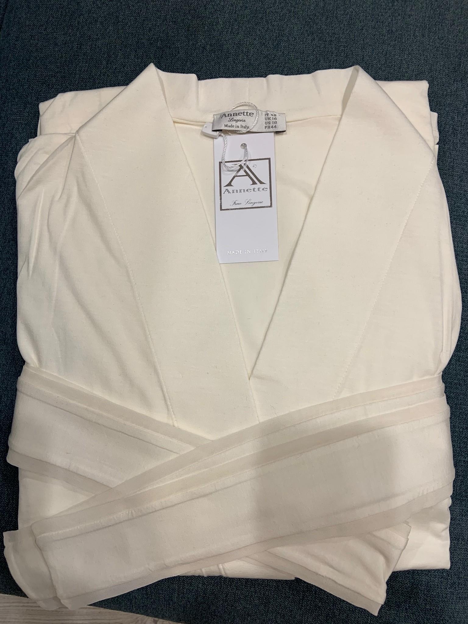 Annette Annette Long Sleeve Long Robe 1414 Panna
