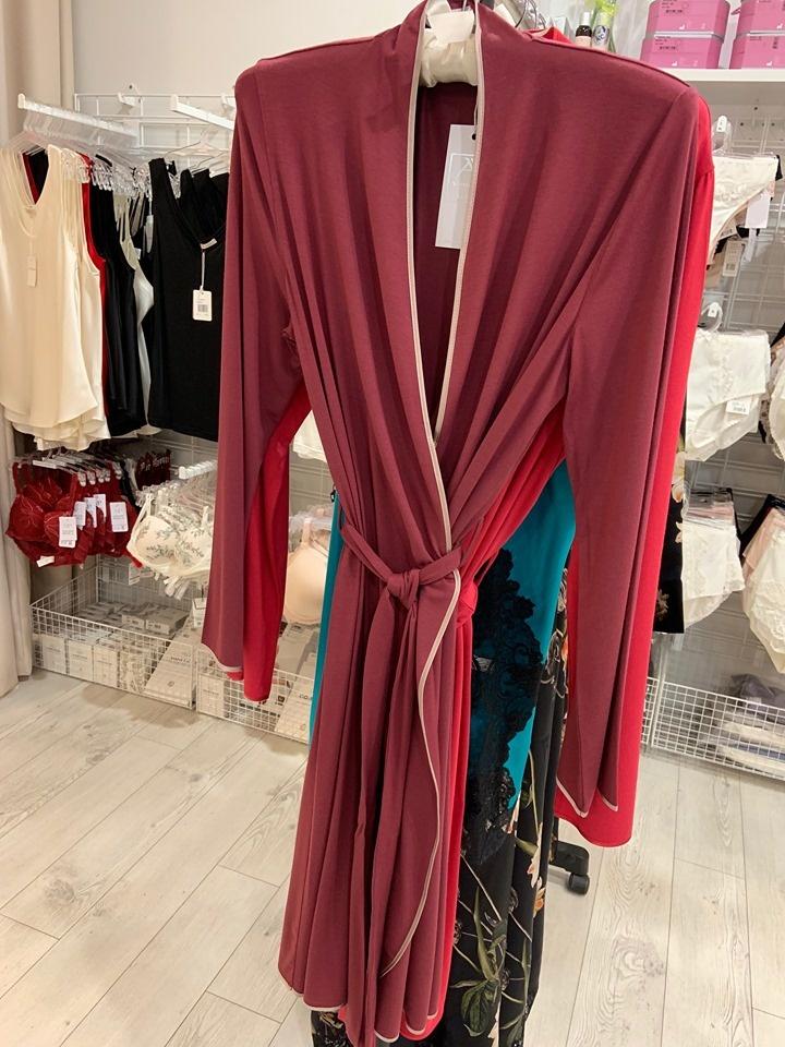 Annette Annette Long Sleeve Short Robe Anemone/Caramelo 2008