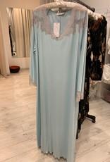 Annette Annette Maglia Long Dress 3/4 Sleeve Acua/Sabbia 1814