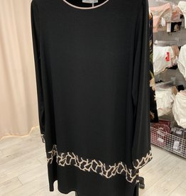 Annette Annette Camica Short Dress Long Sleeve Nero 2059