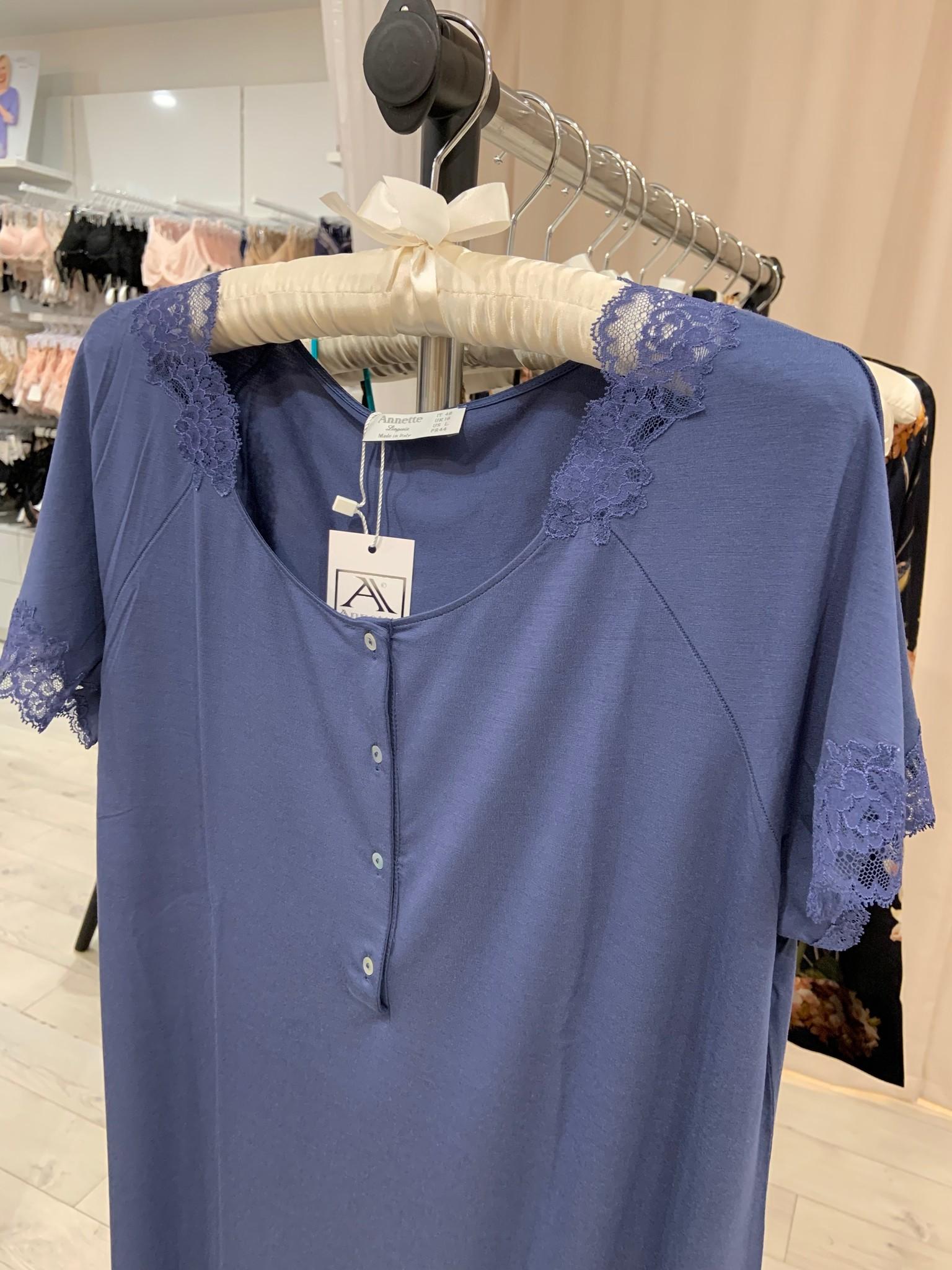 Annette Annette Canotta Maglia Short Sleeve Short Dress Blue/Blue 1815