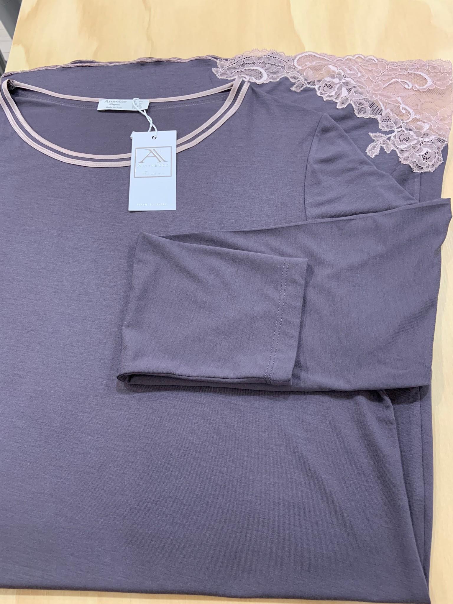 Annette Annette Canotta Maglia Long Sleeve Short Dress 2031 Shade/Caramello
