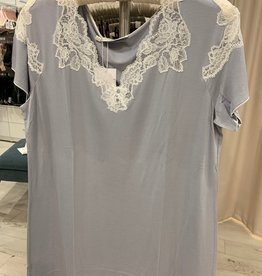 Annette Annette Canotta Maglia Short Sleeve Short Dress Ice/Panna 1859