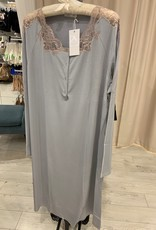 Annette Annette Camicia Maglia Long Sleeve Short Dress 2045 Cielo/Caramello