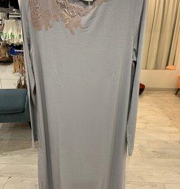 Annette Annette Camicia Maglia Long Sleeve Short Dress Cielo/Caramello 2044