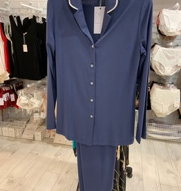Annette Annette Maglia Button Up PJ Blue 1881