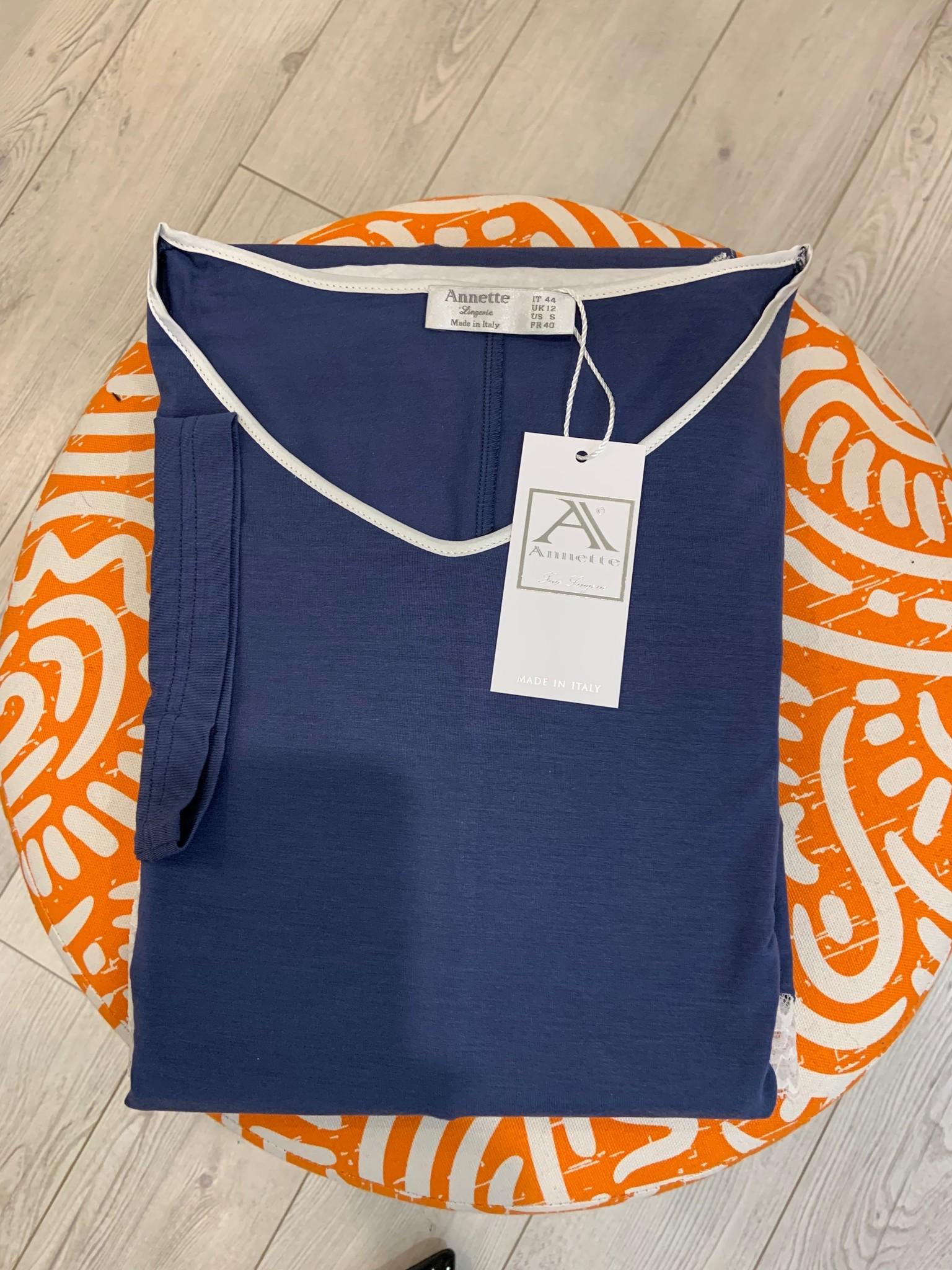 Annette Annette Canotta Maglia Short Sleeve Short Dress 1818 Blue/Panna