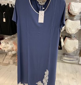Annette Annette Canotta Maglia Short Sleeve Short Dress 1818 Blue/Panna