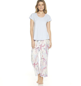 Gingerlilly Gingerlilly Louise PJ Set with 3/4 Pants