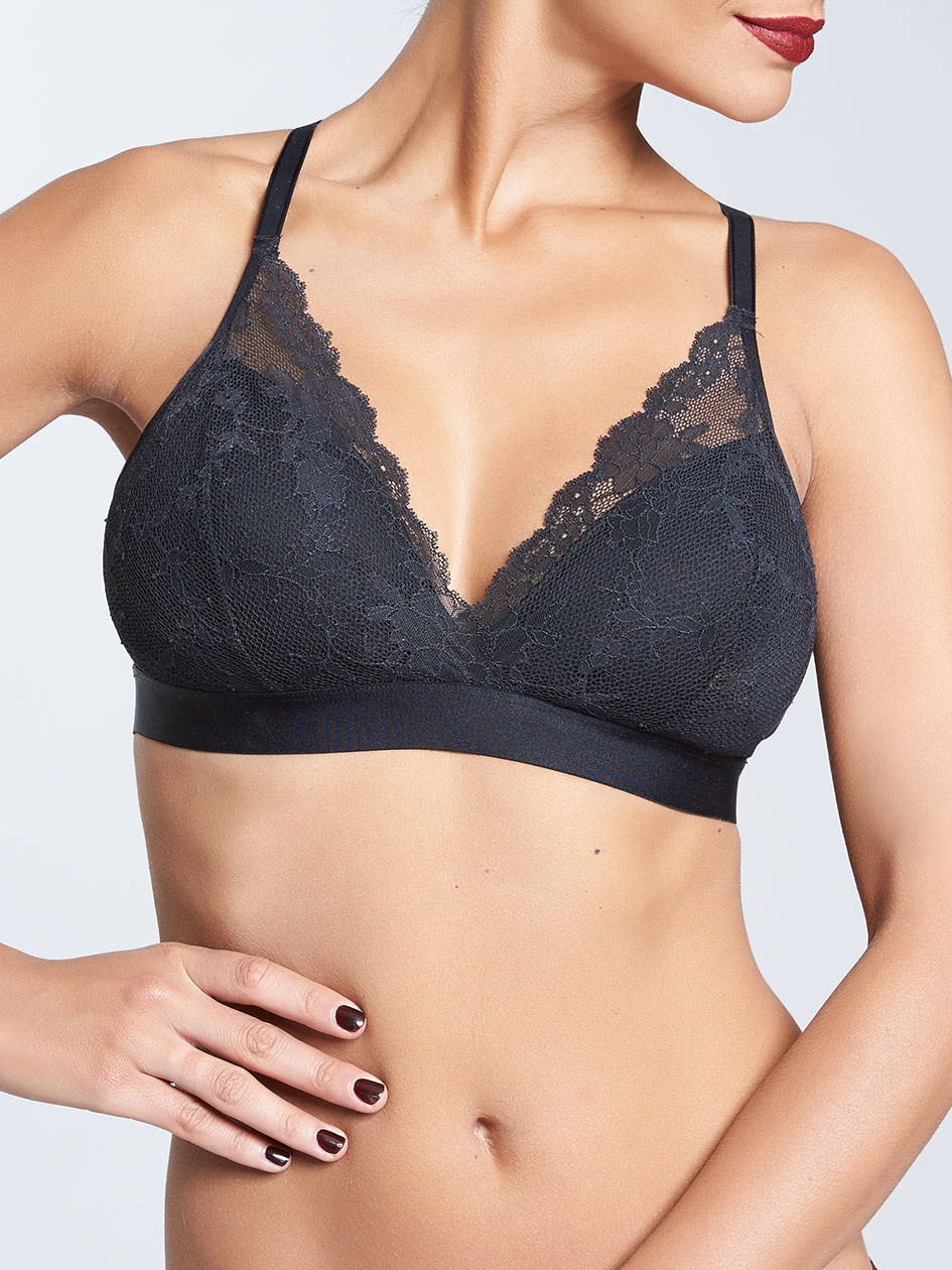 Chantelle Chantelle Everyday Lace Racerback Wirefree Bra Black