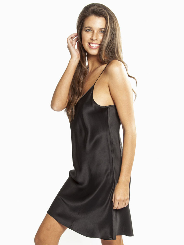 Love & Lustre Love & Lustre Silk Chemise Black LL514