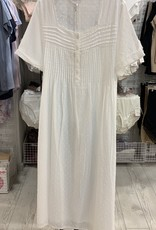 Chateau Chateau Nite White with Pintucks and Placket CPT401