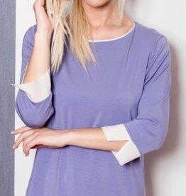 Annette Annette 3/4 Sleeve PJ Porpora/Panna 2218