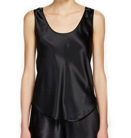 Ginia Ginia Pure Silk Singlet Thick Strap 2142 Black