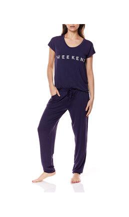 Gingerlilly Gingerlilly Teagan  Navy Modal PJ Long Pants Set