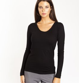 Love & Lustre Fine Merino Long Sleeve Thermal Black LL352