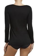 Love & Lustre Love & Lustre Silk Jersey Long Sleeve Crew Neck Black LL922