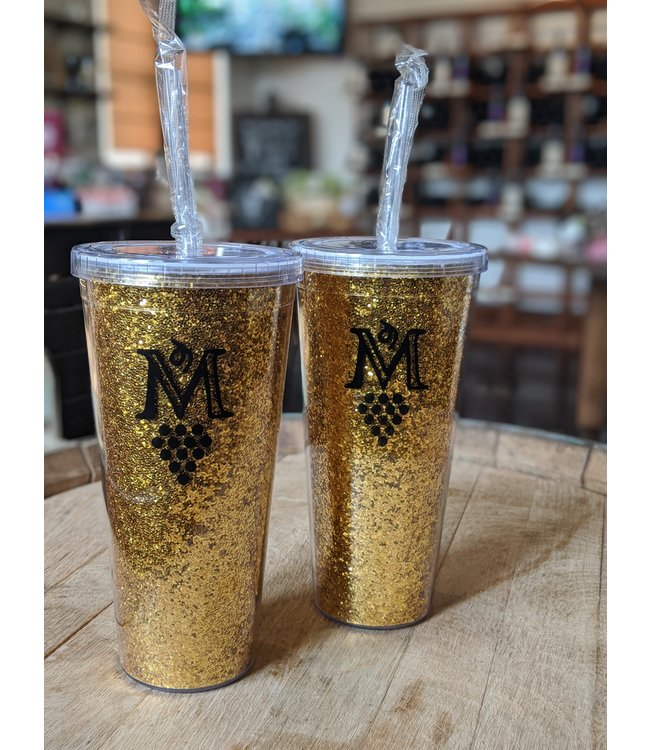 True Brands Glam Double Wall Glitter Tumbler