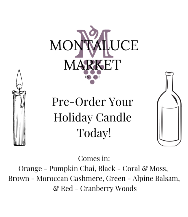 Montaluce Glass Company Holiday Candle Pre-Order